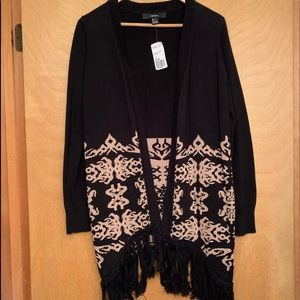 NWT forever 21 fringe sweater